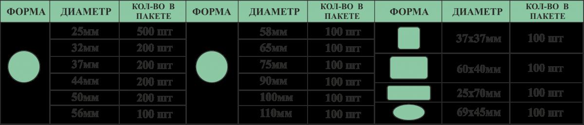 заготовки для закатных значков: