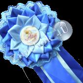 Розетка наградная синяя